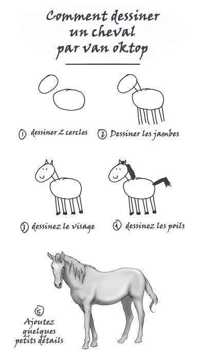 Comment dessiner un cheval - Comment dessiner un cheval au galop ...