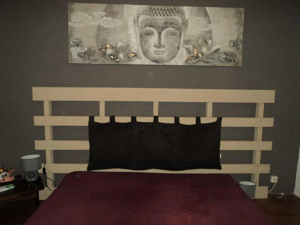 T te de lit - Faire une tete de lit en palette ...